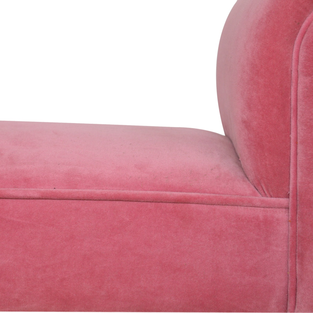 The Sofa Throw Company Pink Velvet Bench