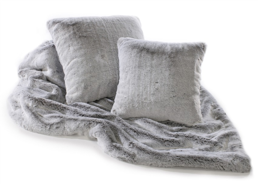 Alaska Fox Luxury Silver Grey Faux Fur Throw 140x240 Cms