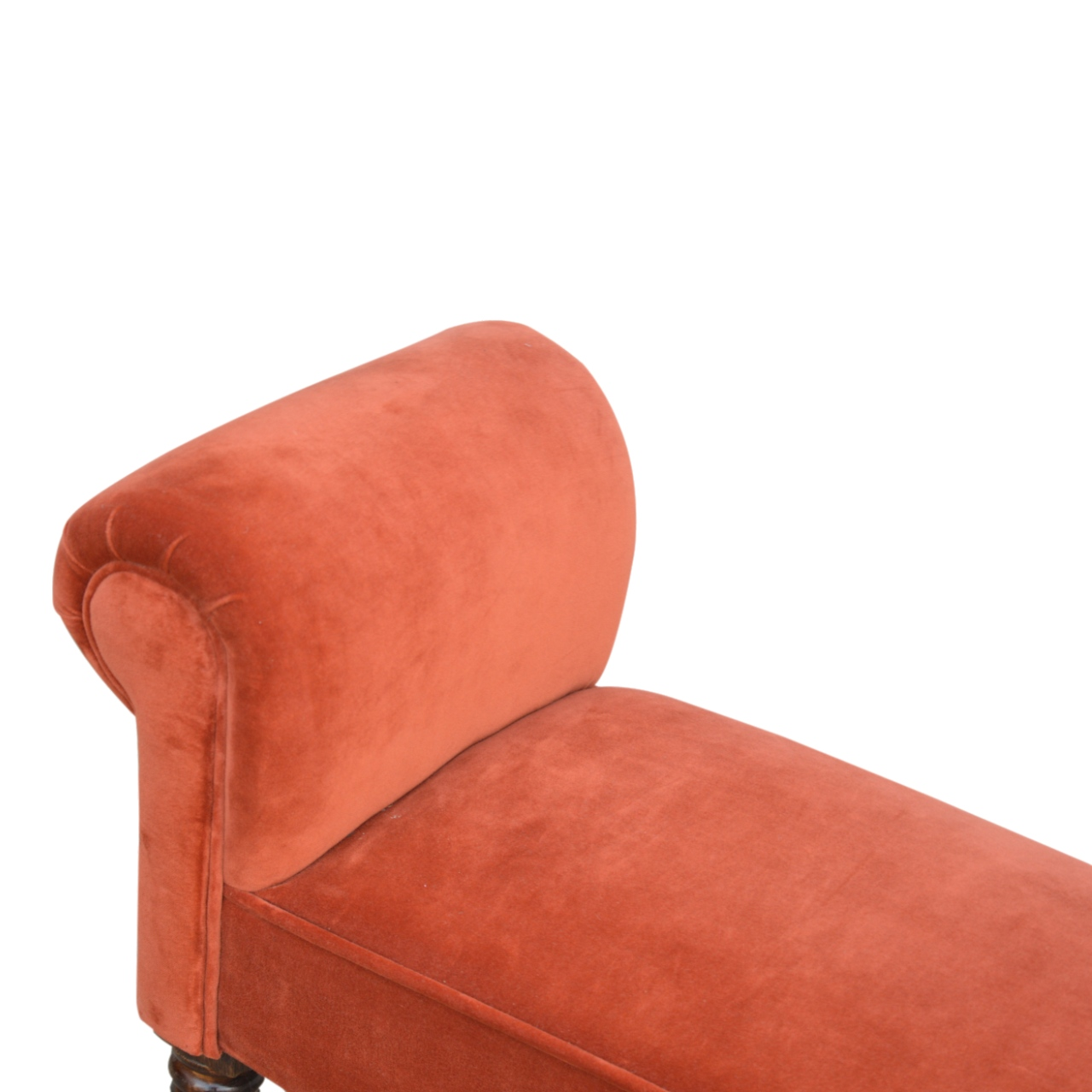 The Sofa Throw Company Brick Red Velvet Bench